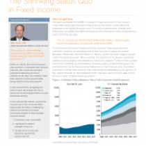 The Shrinking Status Quo in Fixed Income