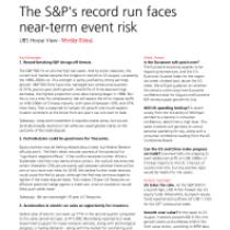 The S&P's record run faces near-term event risk