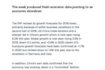 The week produced fresh economic data pointing to an economic slowdown.
