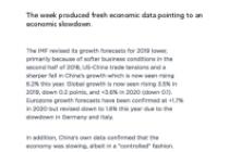 The week produced fresh economic data pointing to an economic slowdown.
