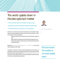 The world upside down in this late-cycle bull market