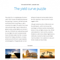 The yield curve puzzle