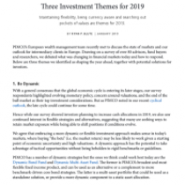 Three Investment Themes for 2019