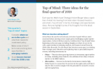 Top of Mind: Three ideas for the final quarter of 2018