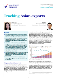 Tracking Asian exports