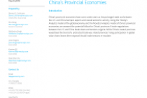 Trade Tensions Test China's Provincial Economies