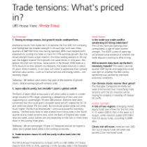 Trade tensions: What's priced in?