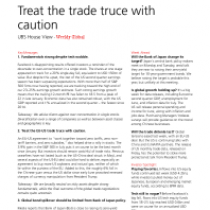 Treat the trade truce with caution