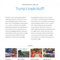 Trump's trade bluff?