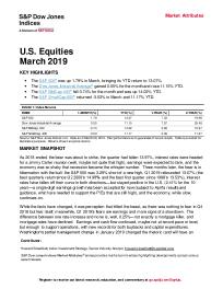 U.S. Equities March 2019