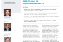 Volatility Driving Dispersion In Emerging Markets
