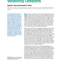 Volatility Lessons