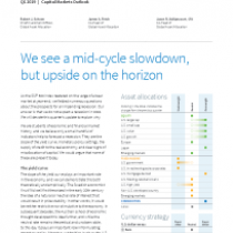 We see a mid-cycle slowdown, but upside on the horizon