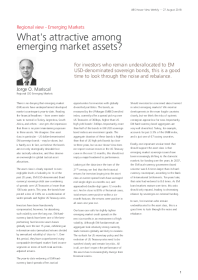 What's attractive among emerging market assets?