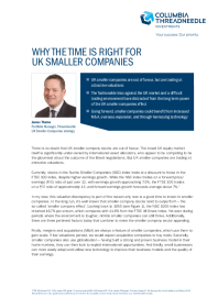 Why The Time Is Right For Uk Smaller Companies
