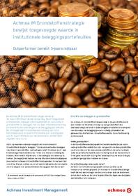 Grondstoffenstrategie bewijst toegevoegde waarde in institutionele beleggingsportefeuilles
