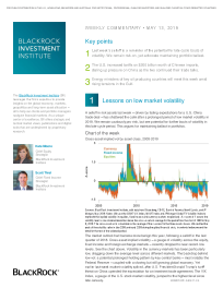 Lessons on low market volatility