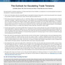 The Outlook for Escalating Trade Tensions