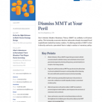 Dismiss MMT at Your Peril