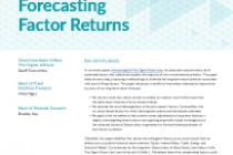 Forecasting Factor Returns