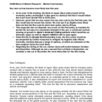 GIAM Macro & Market Research – Market Commentary