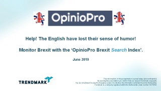 Monitor Brexit with the 'OpinioPro Brexit Search Index'