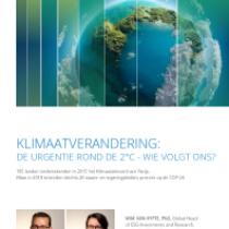 Klimaatverandering: de urgentie rond de 2°c – wie volgt ons?