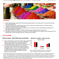 Monthly update on Indian markets