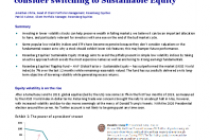 Why low volatility ETF investors should consider switching to Sustainable Equity