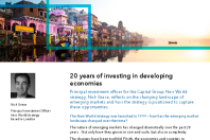 20 years of investing in developing economies