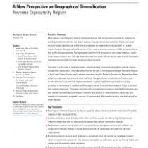 A New Perspective on Geographical Diversification