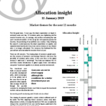 Allocation insight