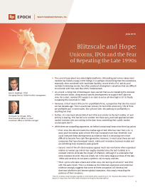 Blitzscale and Hope: Unicorns, IPOs and the Fear of Repeating the Late 1990s