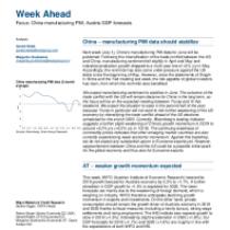 China – manufacturing PMI data should stabilize