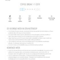Coffee Break 1-7-2019
