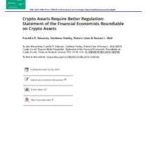 Crypto Assets Require Better Regulation