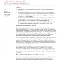 Currencies: Us Dollar Bar For Us Fx Intervention Remains High