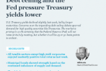 Debt ceiling and the Fed pressure Treasury yields lower