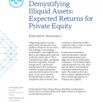 Demystifying Illiquid Assets: Expected Returns for Private Equity