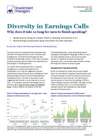 Diversity in Earnings Calls