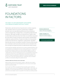 Foundations in Factors – executive summary