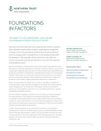 Foundations In Factors