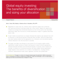 Global equity investing: The benefits of diversification and sizing your allocation