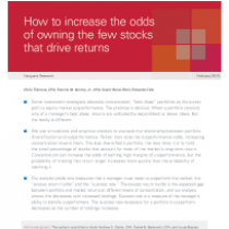 How to increase the odds of owning the few stocks that drive returns