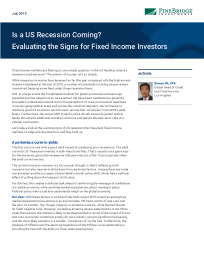 Is a US Recession Coming? Evaluating the Signs for Fixed Income Investors