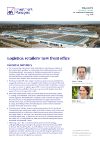 Logistics: retailers' new front office