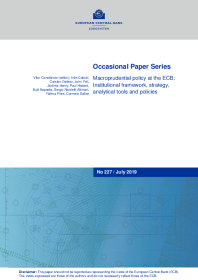 Macroprudential policy at the ECB: Institutional framework, strategy, analytical tools and policies