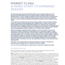 Market Flash: A Mixed Start To Earnings Season