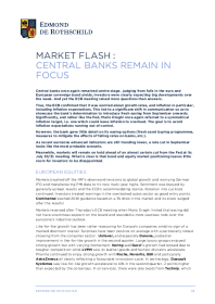 Market Flash : Central Banks Remain In Focus