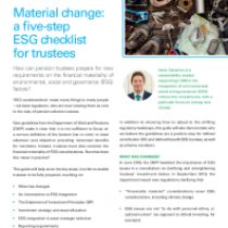 Material change: a fve-step ESG checklist for trustees
